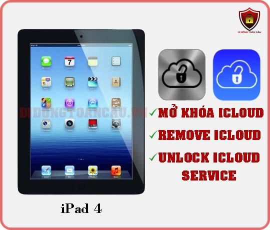 Mở khóa iCloud iPad 4