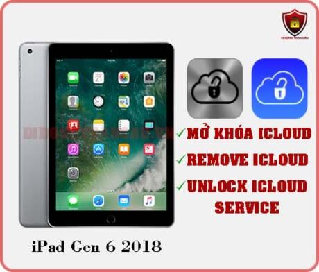 Mở khóa iCloud iPad Gen 6 2018