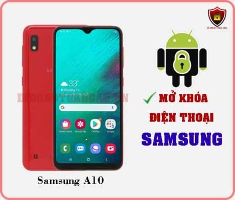 Mở khoá điện thoại Samsung A10