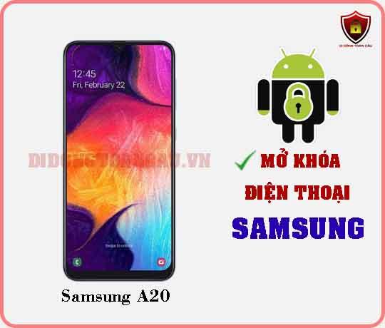 Mở khoá điện thoại Samsung A20
