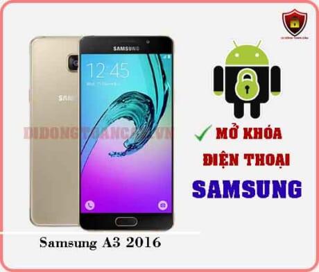 Mở khoá điện thoại Samsung A3 2016
