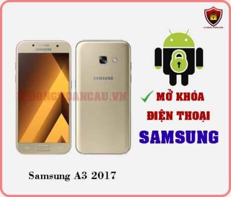 Mở khoá điện thoại Samsung A3 2017