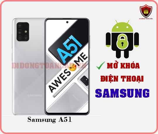 Mở khoá điện thoại Samsung A51