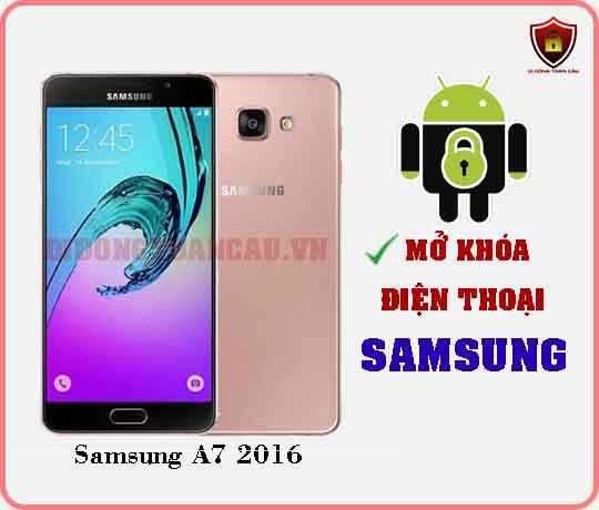 Mở khoá điện thoại Samsung A7 2016
