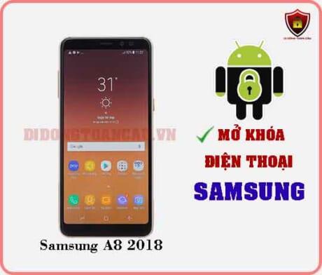 Mở khoá điện thoại Samsung A8 2018