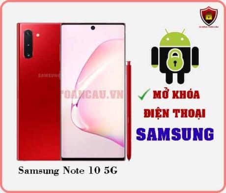 Mở khoá điện thoại Samsung Note 10 5G