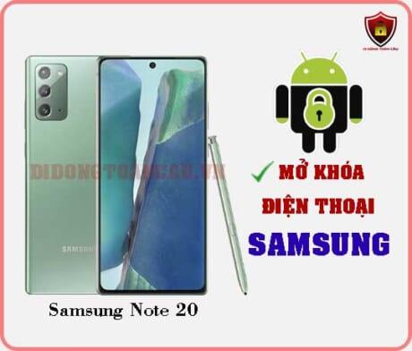 Mở khoá điện thoại Samsung Note 20