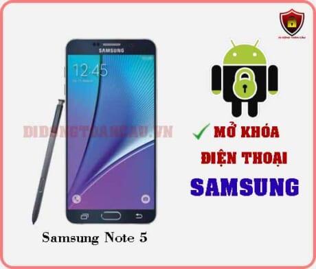 Mở khoá điện thoại Samsung Note 5