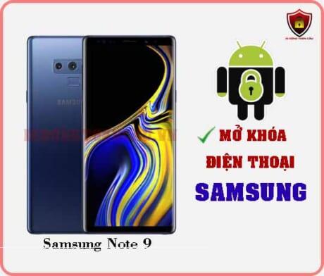 Mở khoá điện thoại Samsung Note 9