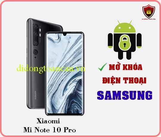 Mở khoá điện thoại Xiaomi Mi Note 10 pro