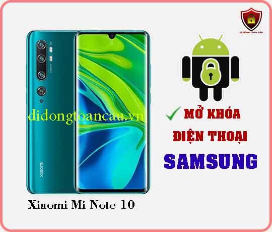 Mở khoá điện thoại Xiaomi Mi Note 10