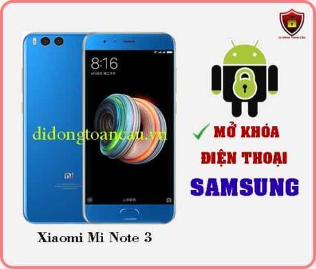 Mở khoá điện thoại Xiaomi Mi Note 3