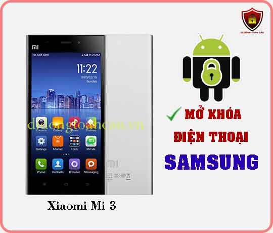 Mở khoá điện thoại Xiaomi Mi 3