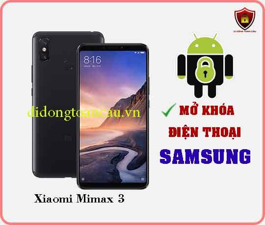 Mở khoá điện thoại Xiaomi Mimax 3