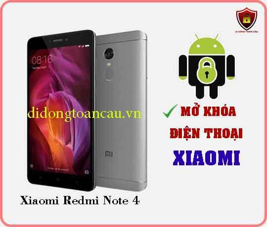 Mở khoá điện thoại Xiaomi REDMI NOTE 4