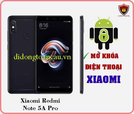 Mở khoá điện thoại Xiaomi REDMI NOTE 5A PRO