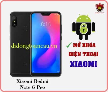 Mở khoá điện thoại Xiaomi REDMI NOTE 6 PRO