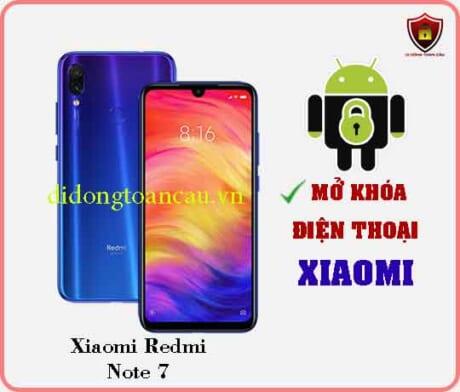 Mở khoá điện thoại Xiaomi REDMI NOTE 7