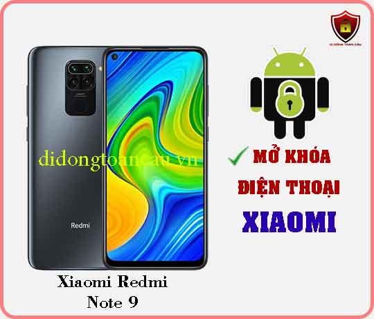 Mở khoá điện thoại Xiaomi REDMI NOTE 9